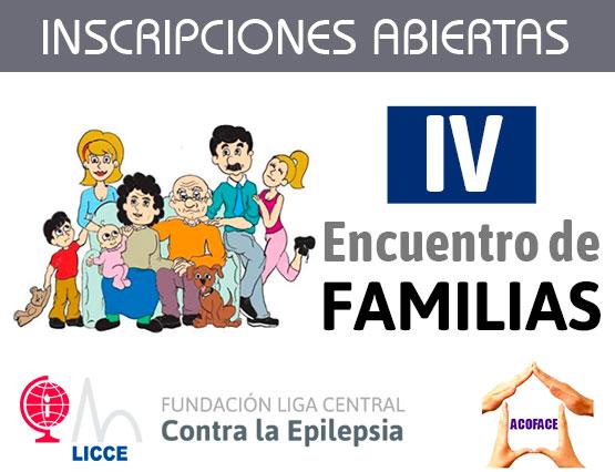 Inscripción de cuarto encuentro familias. Epilepsia y otros problemas neurológicos